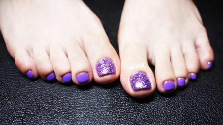 Pedicure and gel polish